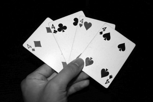 4 playing cards